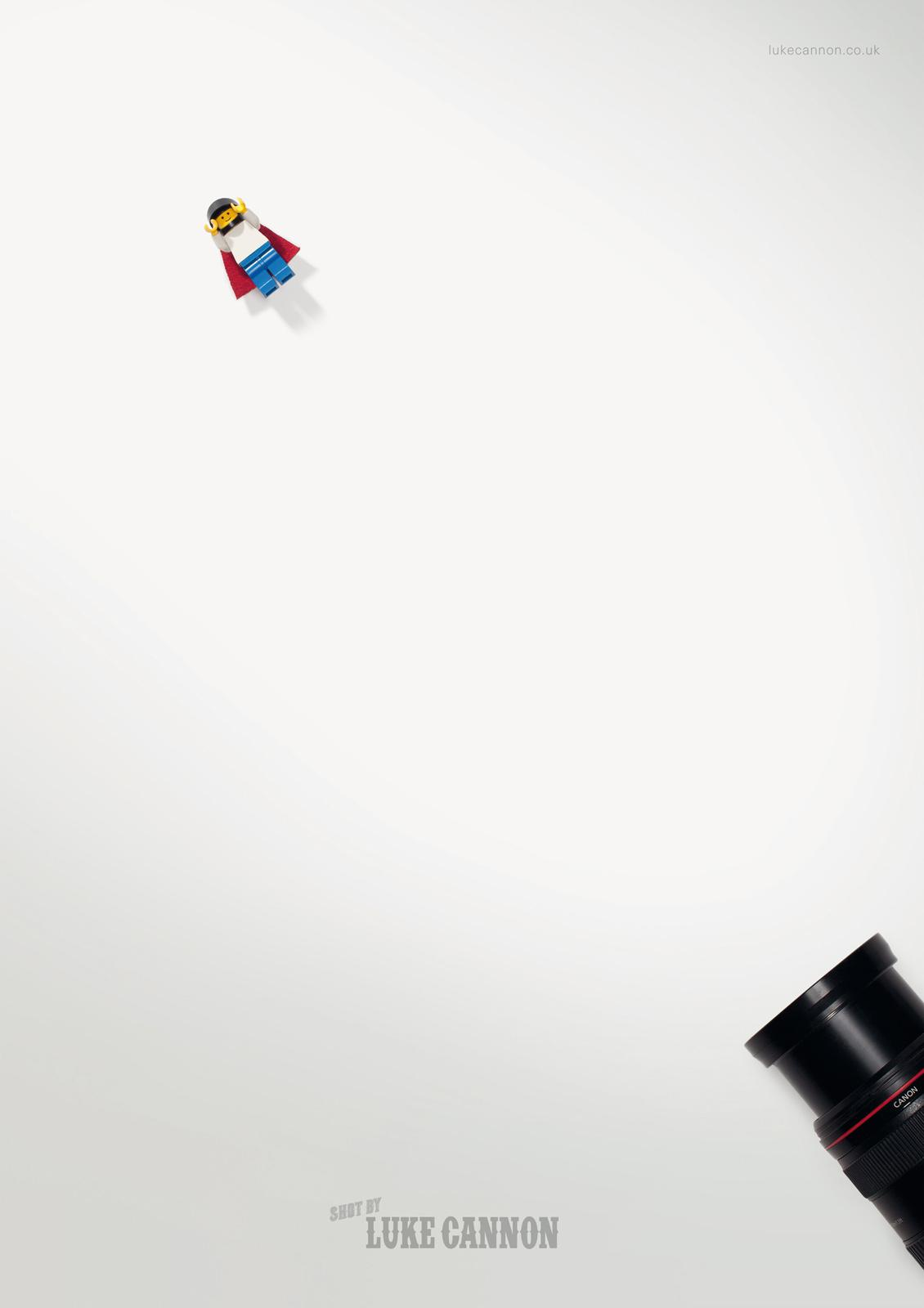 Luke Cannon Print Ad -  Cannonball Lego man