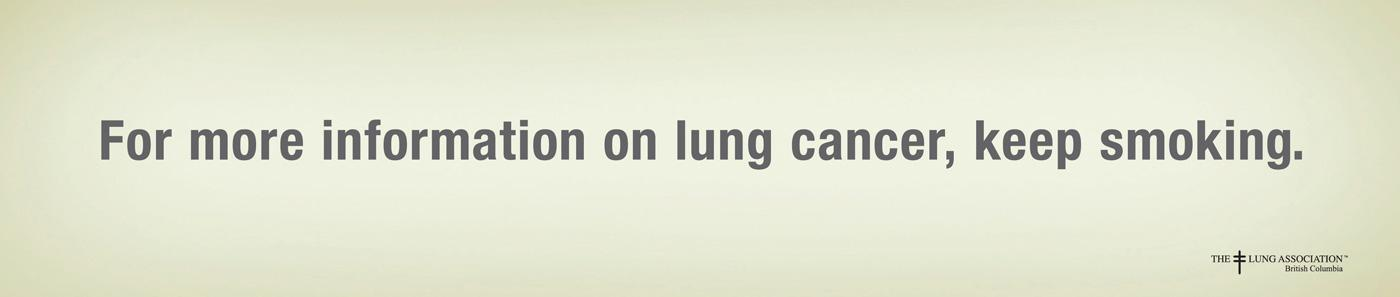 BC Lung Association Print Ad -  Info