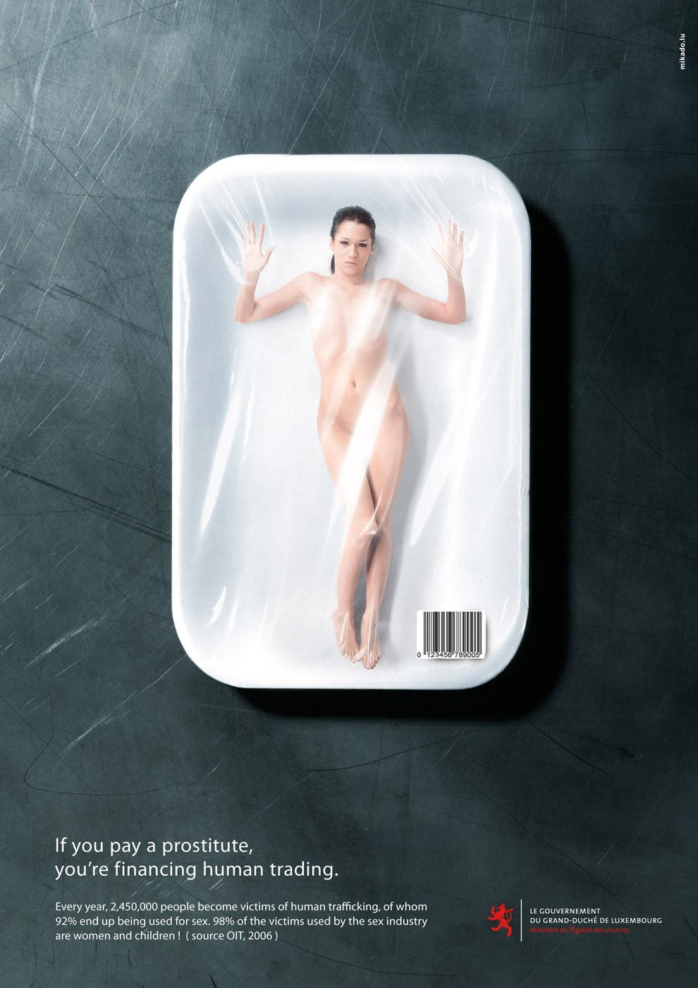 Luxembourg Government Print Ad -  Human trading, 1
