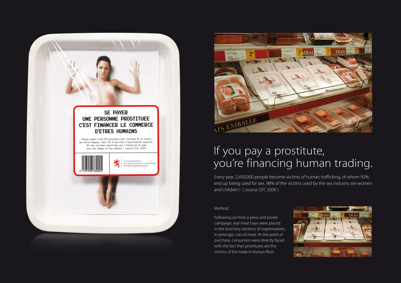 Luxembourg Government Direct Ad -  Human trading, 2
