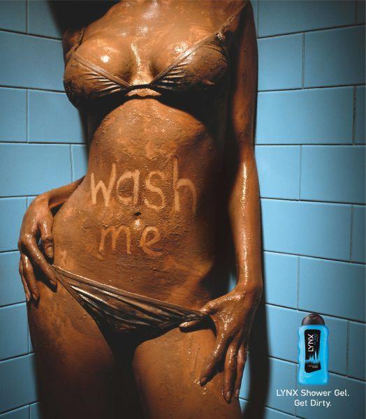 Lynx Print Ad -  Wash me