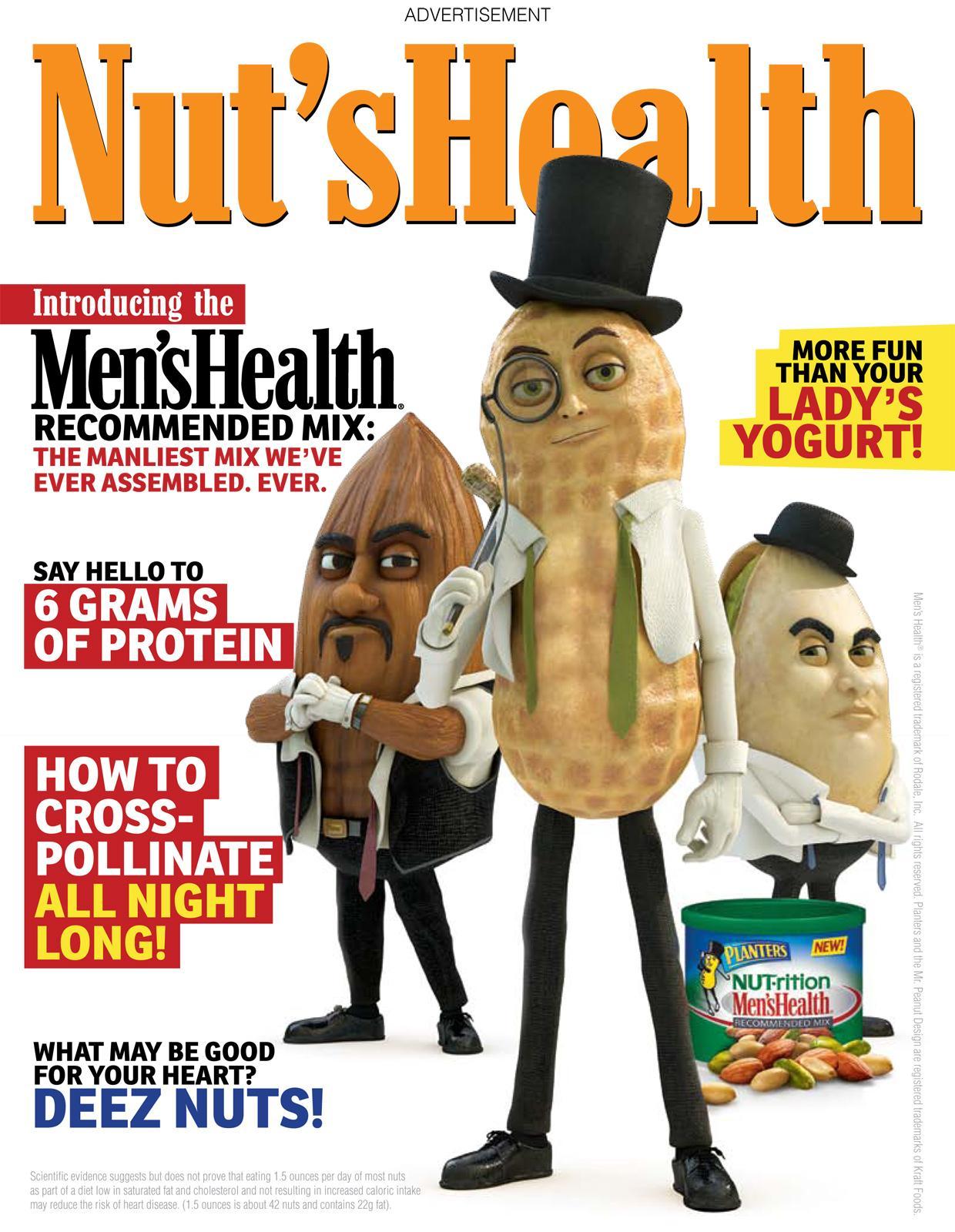 Planters Print Ad -  Nut's health