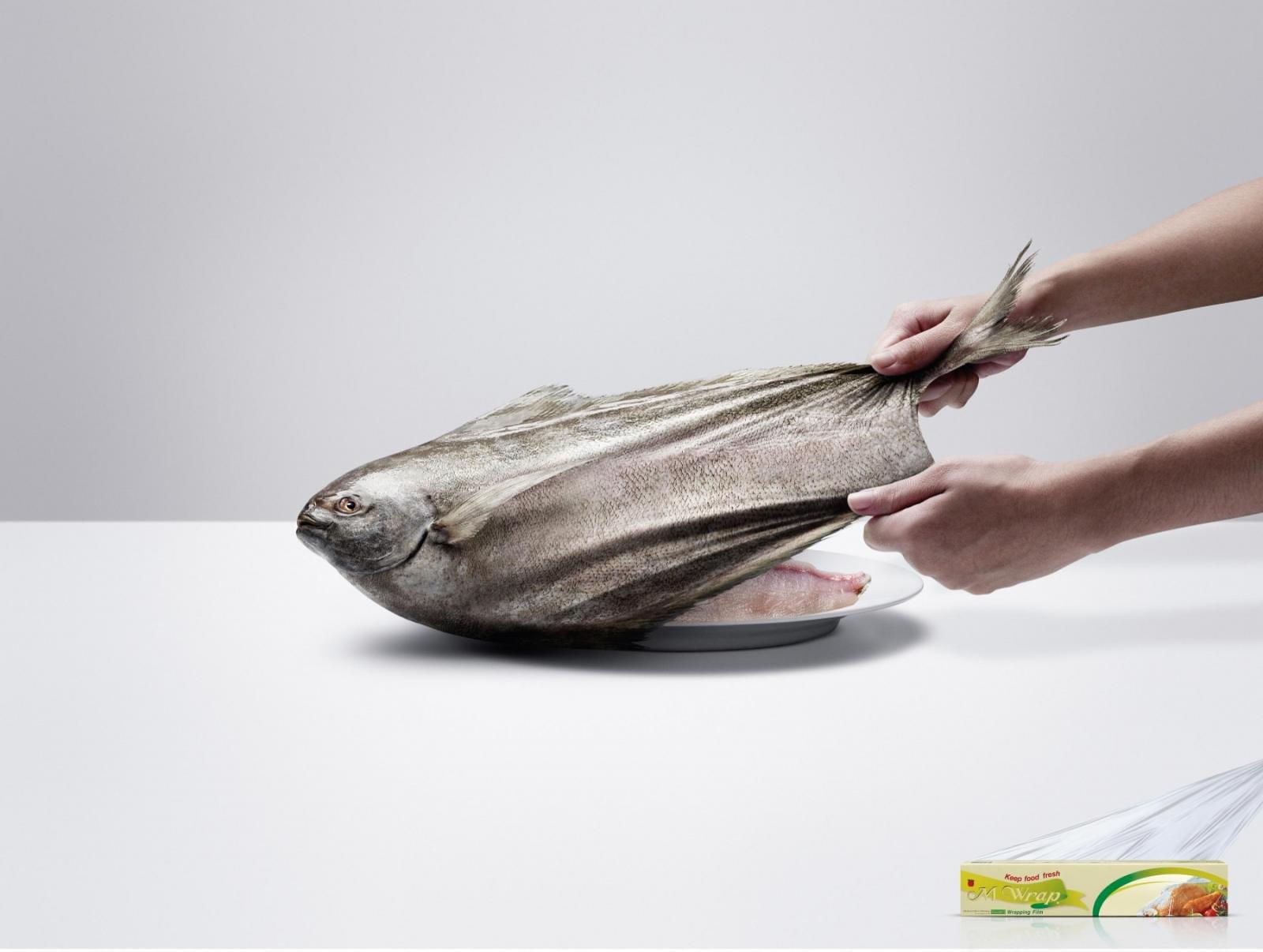 M Wrap Outdoor Ad -  Fish