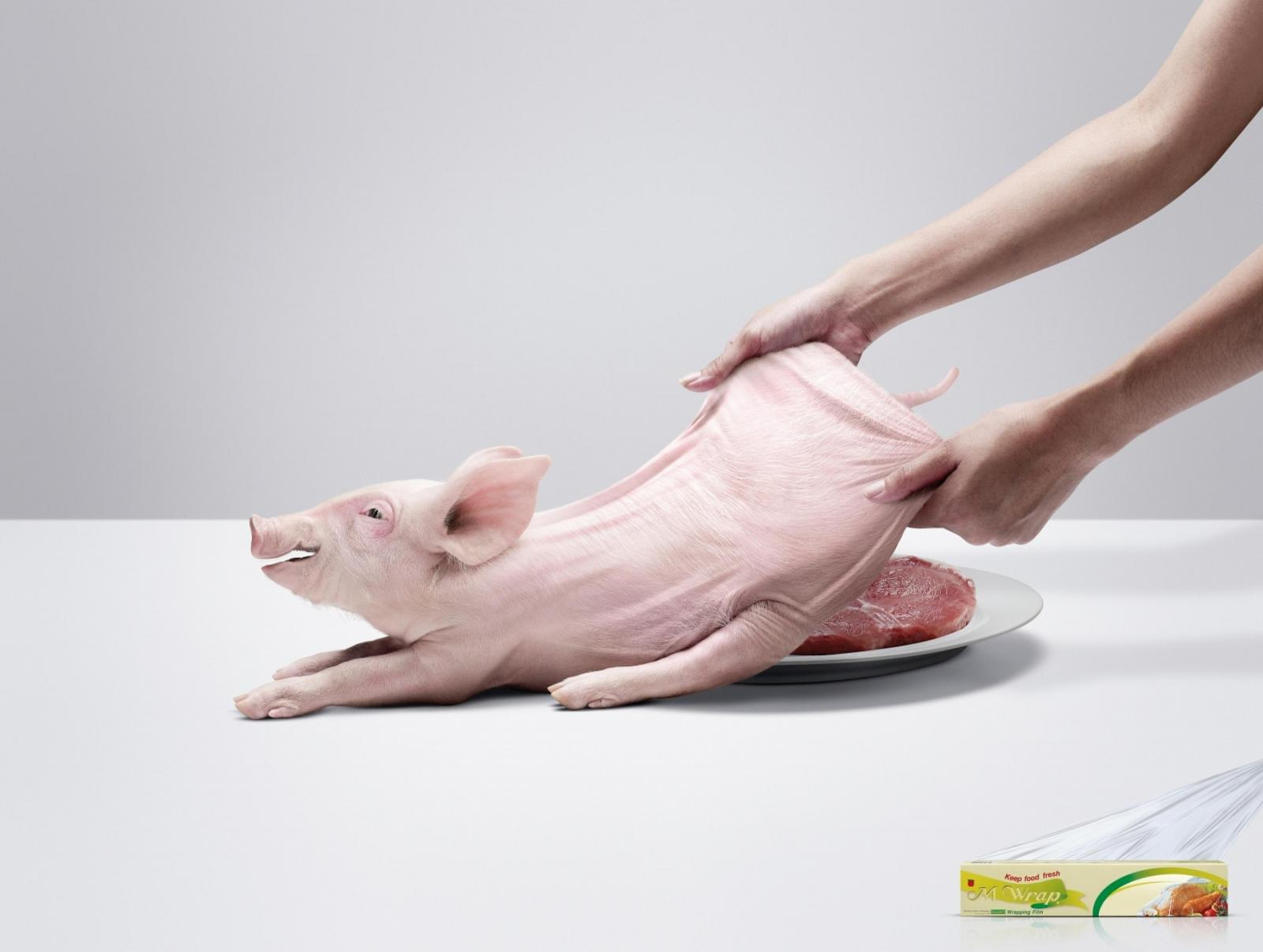 M Wrap Outdoor Ad -  Pork