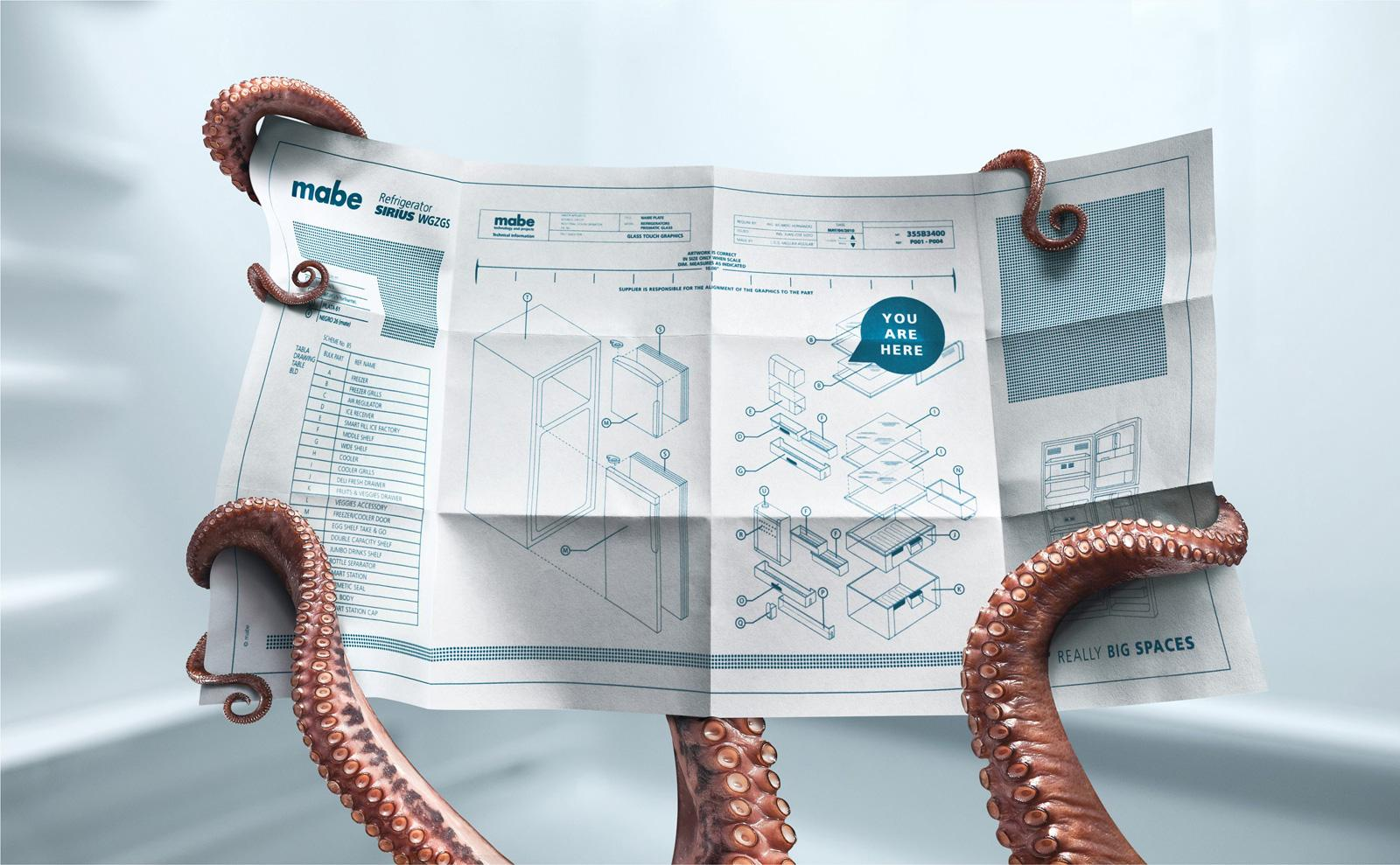 Mabe Print Ad -  Octopus