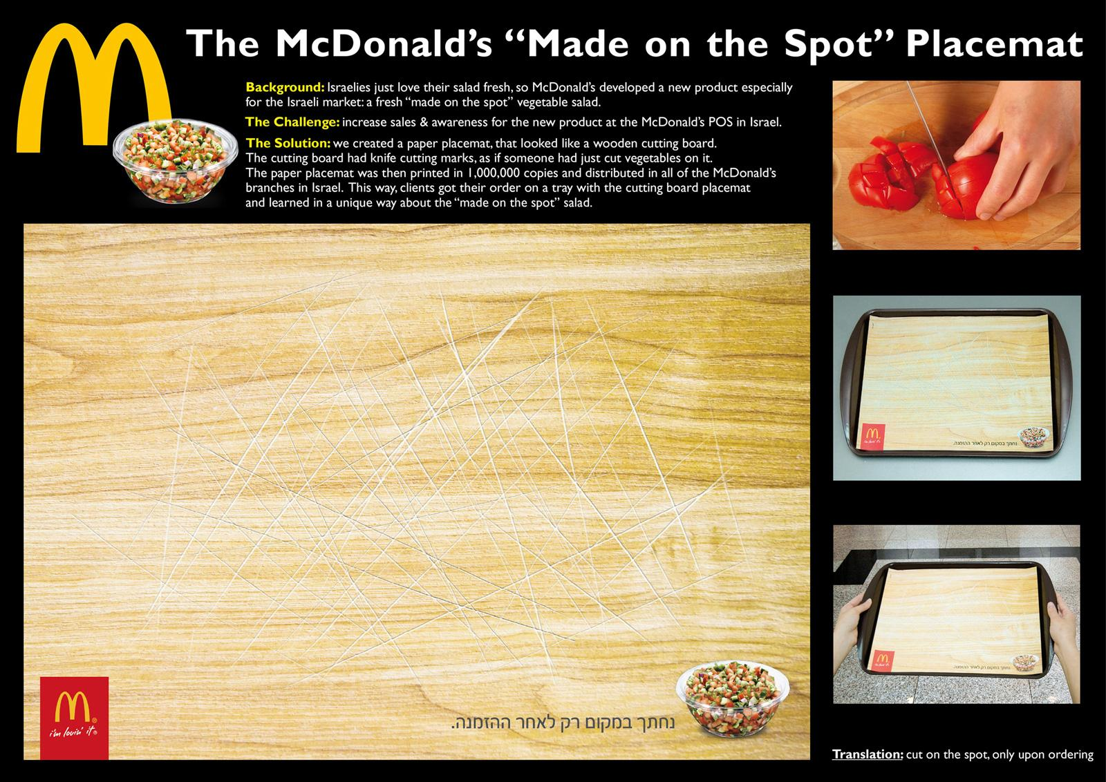 McDonald's Direct Ad -  Made on the spot