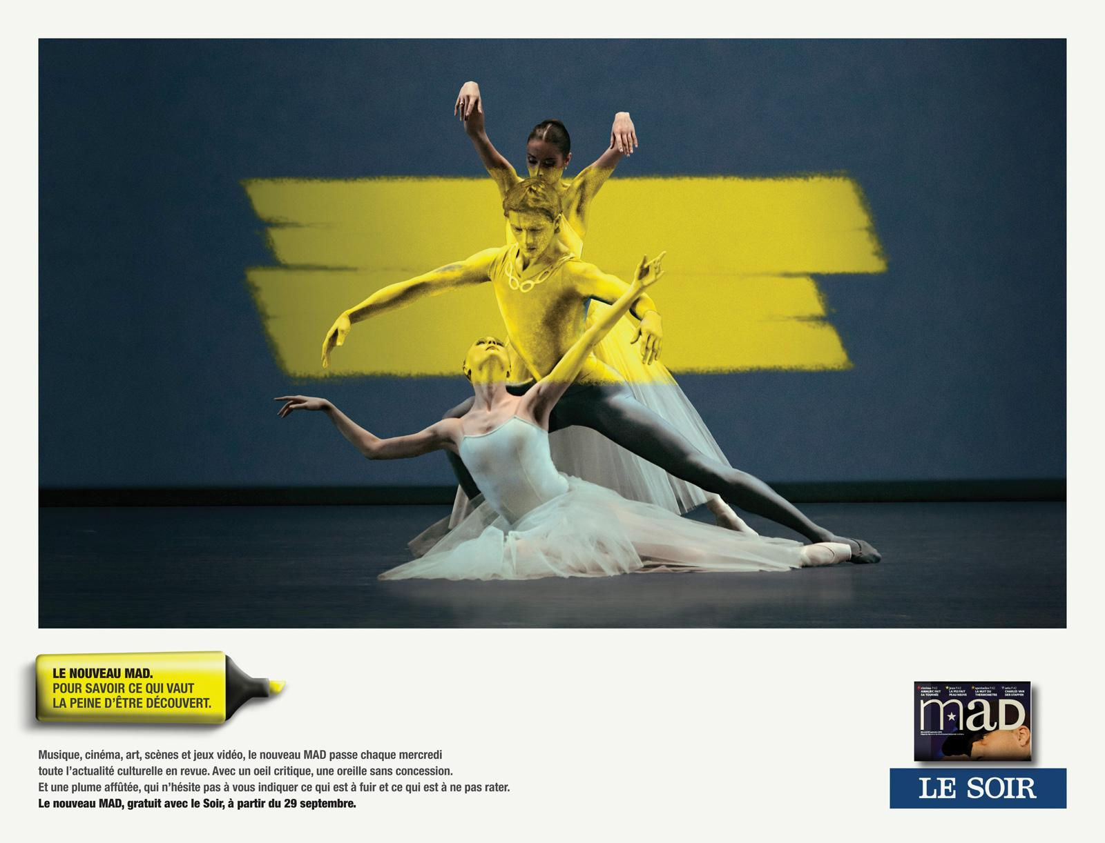 Mad Cultural Newspaper Print Ad -  Ballet