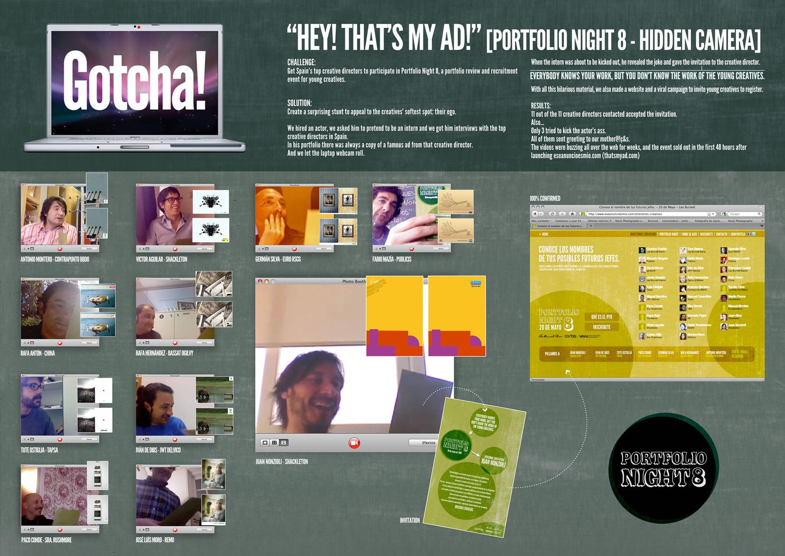 Portfolio Night Digital Ad -  Hey! That's My Ad