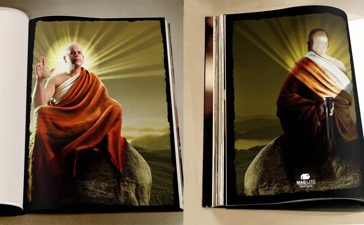 Maglite Print Ad -  Buddha