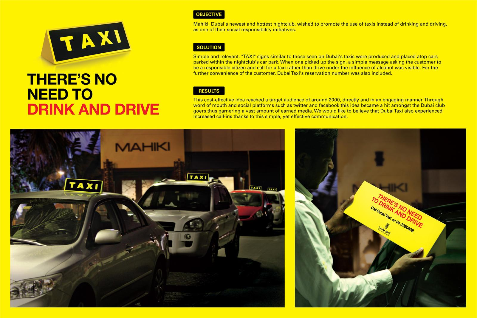 Mahiki Ambient Ad -  Take A Taxi