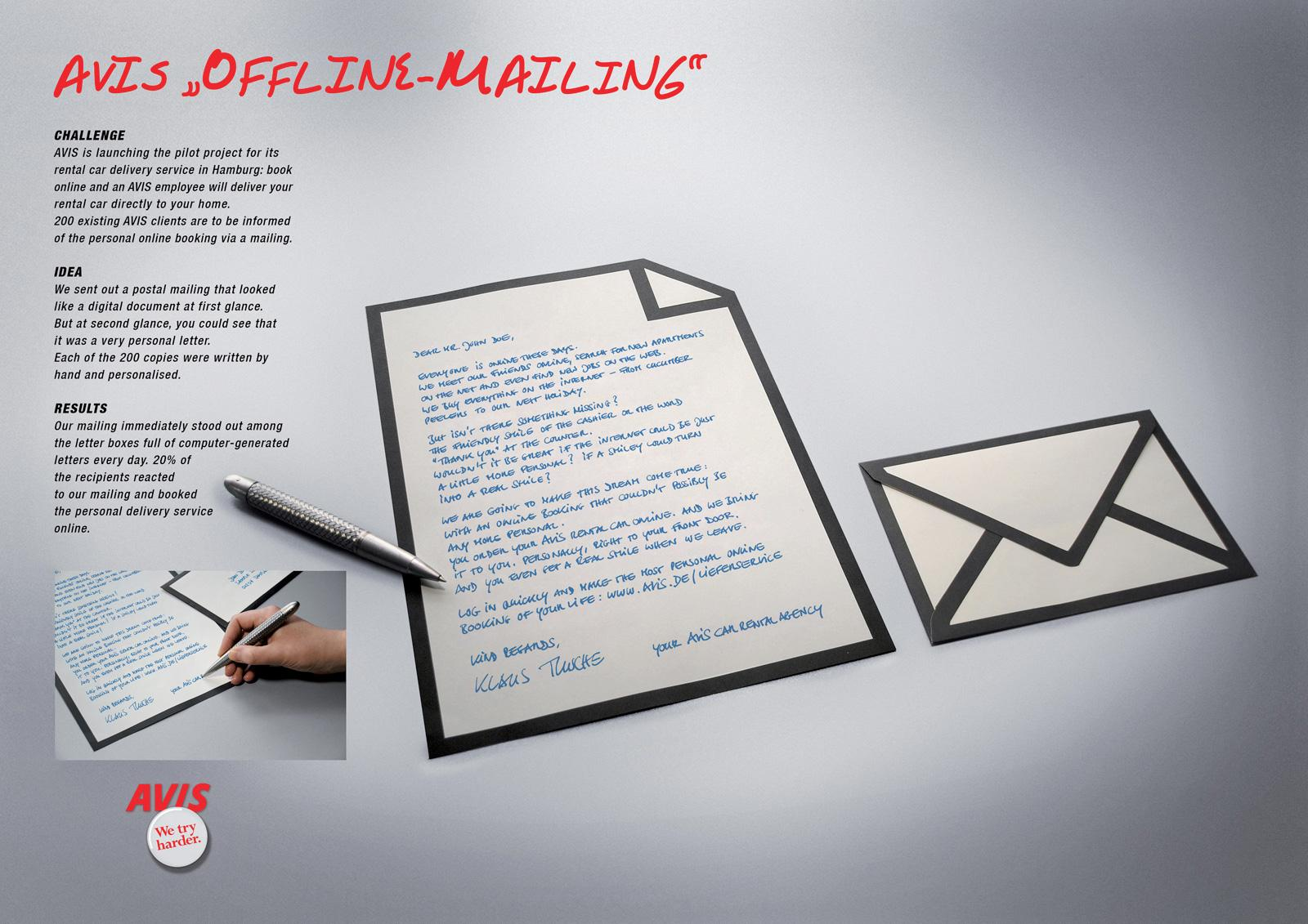 Avis Direct Ad -  Offline-Mailing