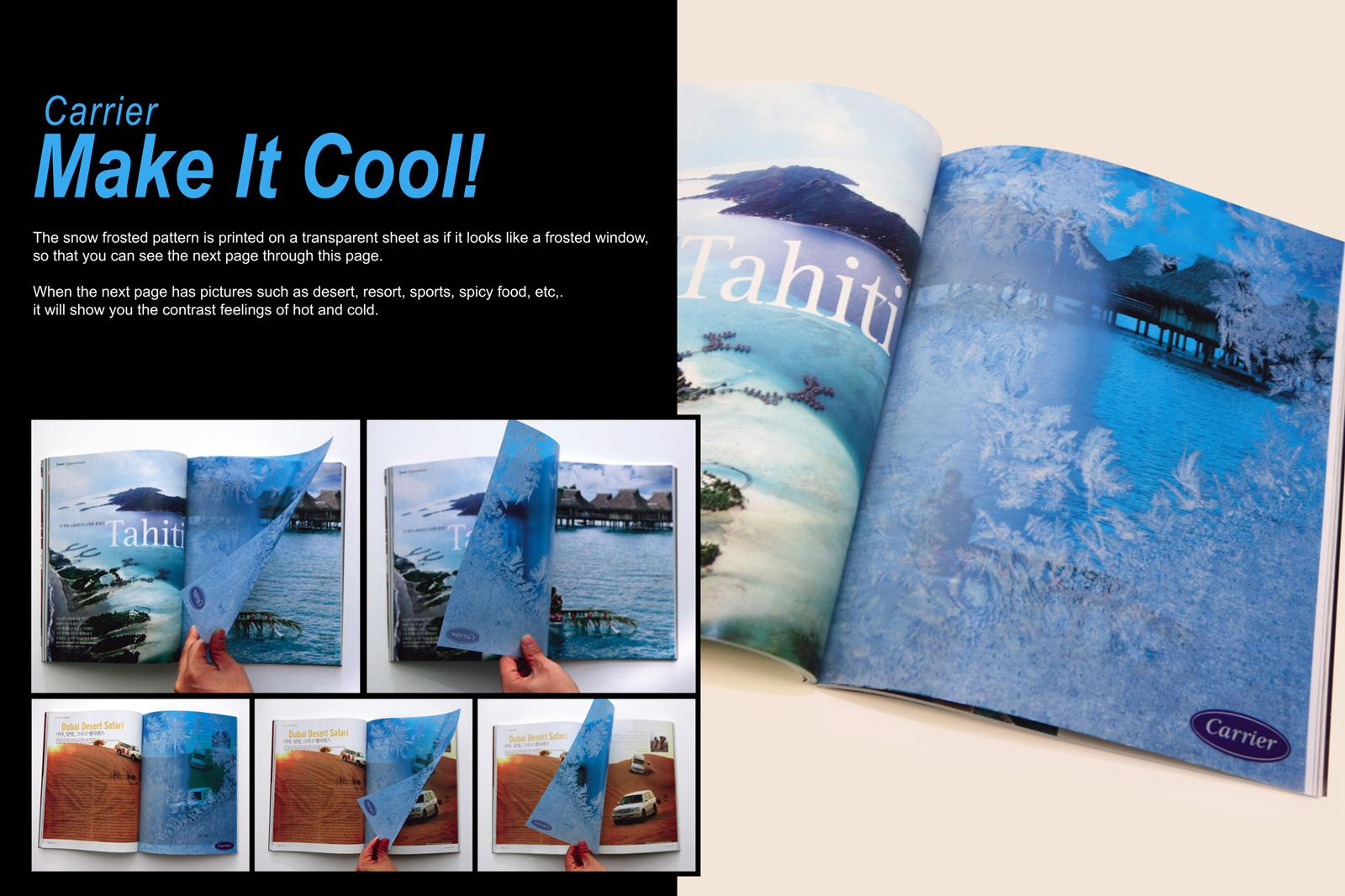 Carrier Print Ad -  Make it Cool, Transparent press