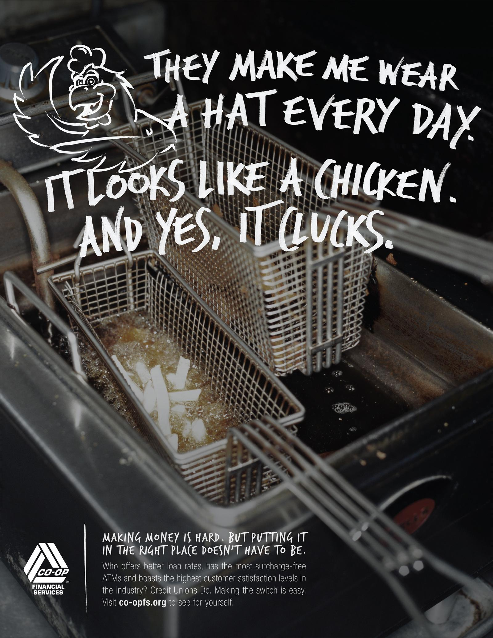 CO-OP Financial Services Print Ad -  Chicken