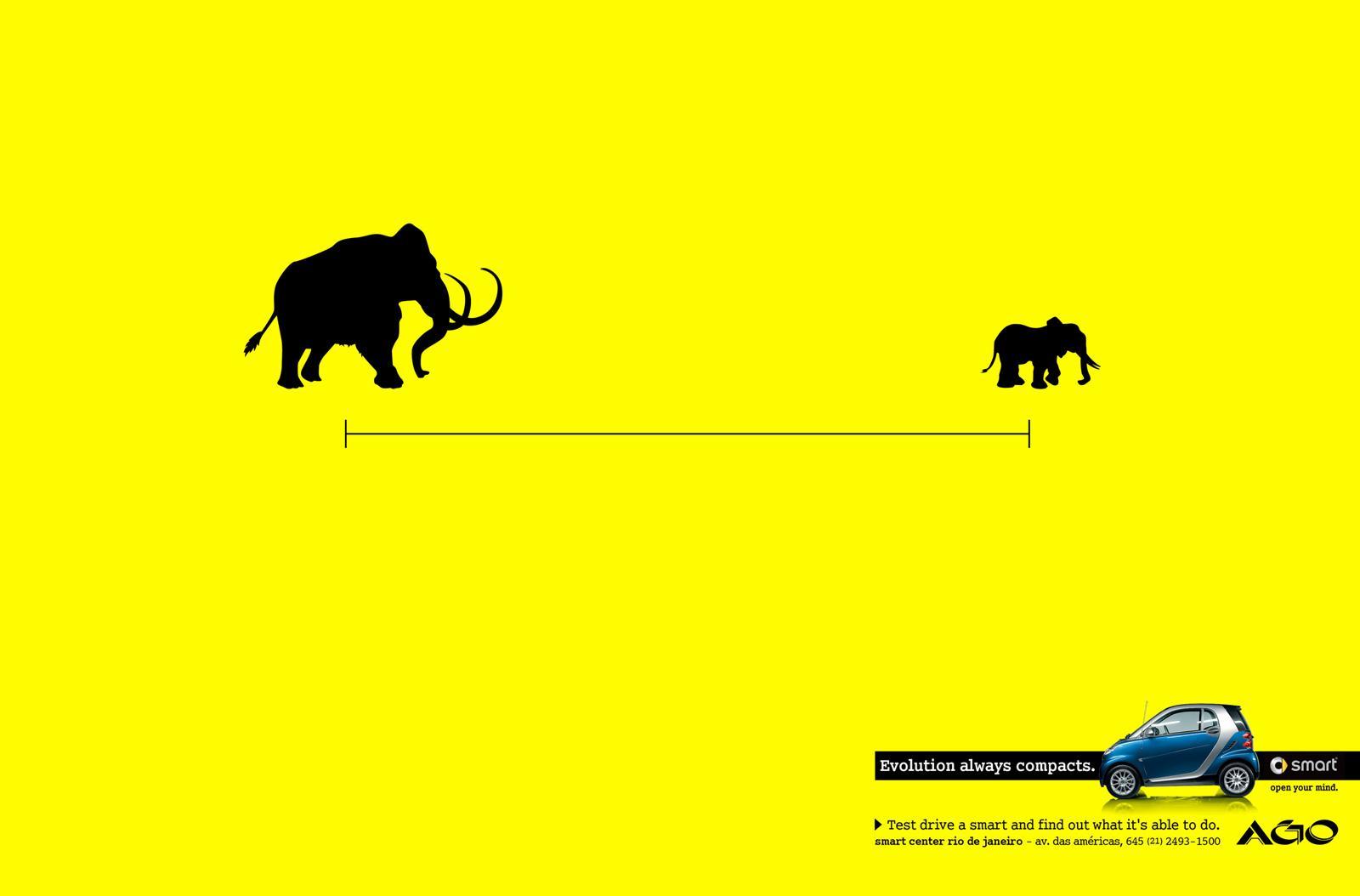 Smart Print Ad -  Evolution always compacts, Mastodon