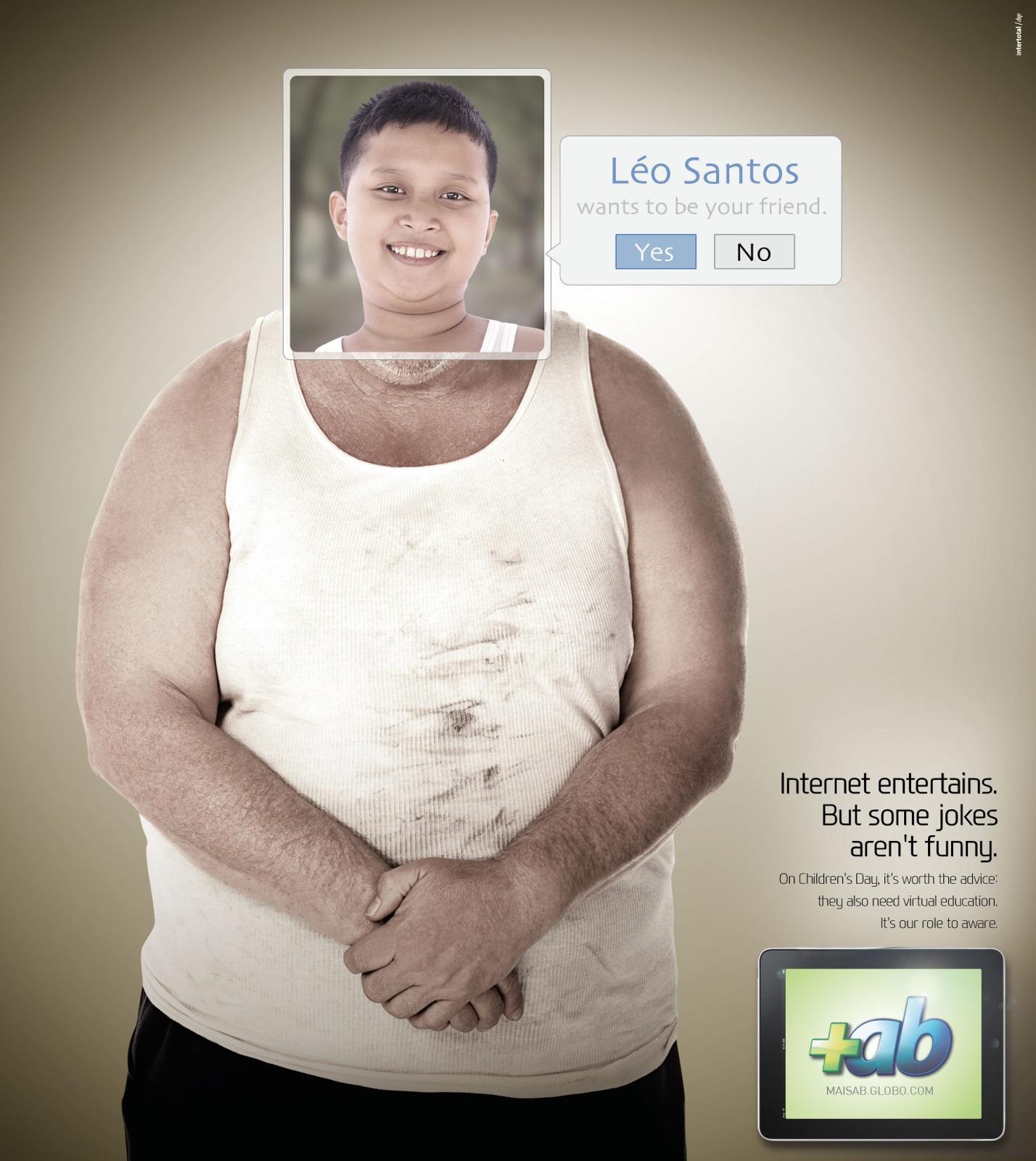 Portal MaisAB Print Ad -  Internet conscious, Man