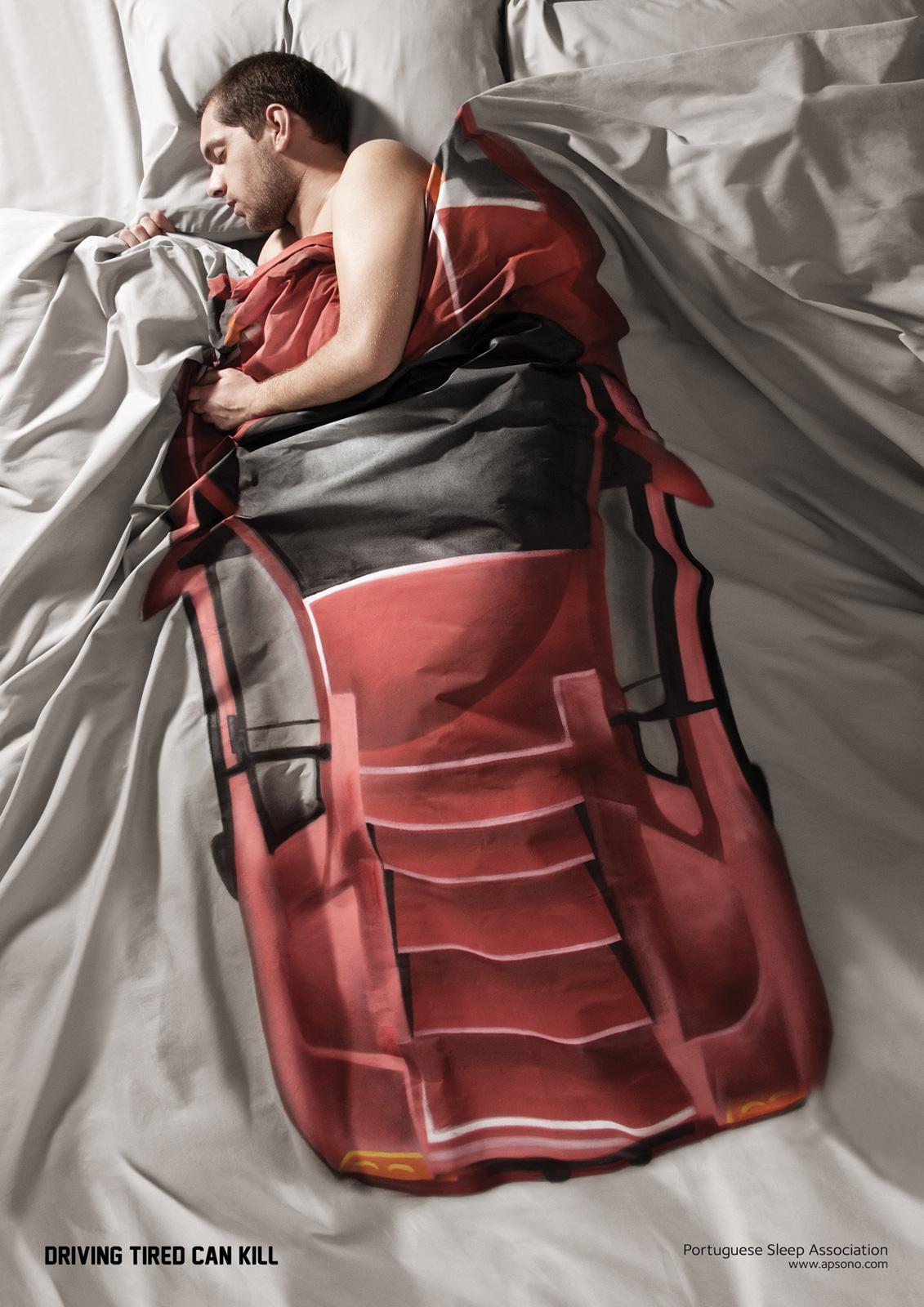 Portuguese Sleep Association Print Ad -  Accident, Man