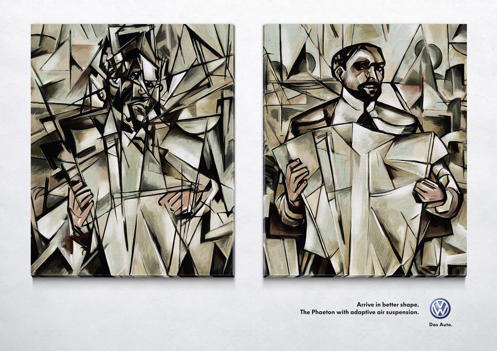 Volkswagen Print Ad -  Man With Paper