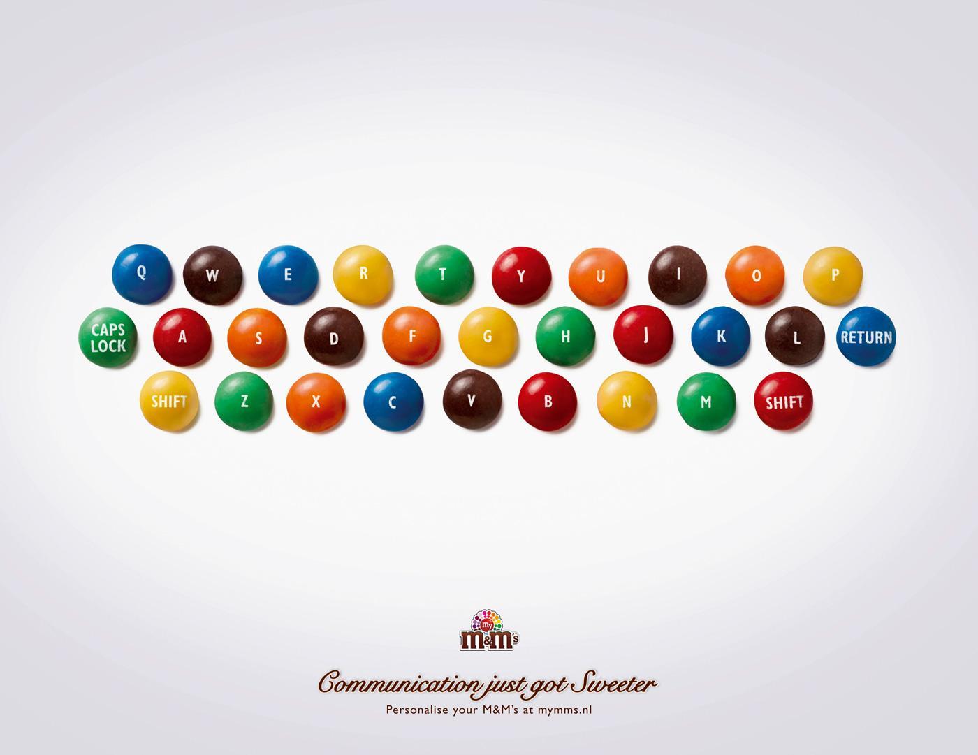 M&M's Print Ad -  Keyboard