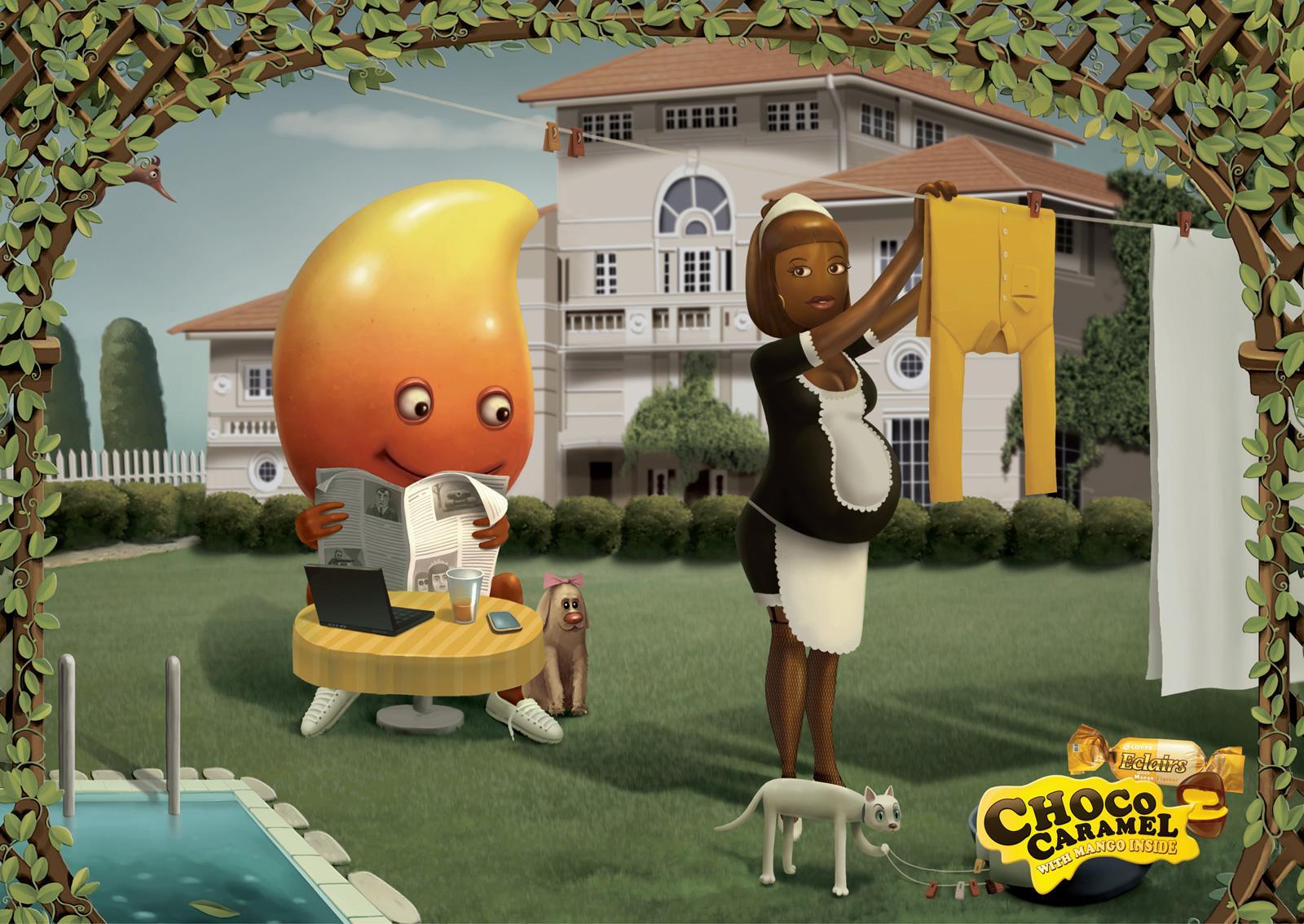 Lotte Eclairs Print Ad -  Mango