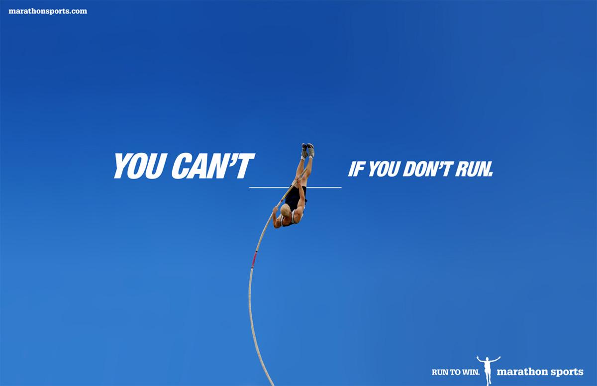 Marathon Sports Print Ad -  Pole vault