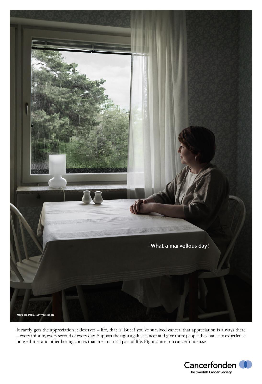 Cancerfonden Print Ad -  Maria