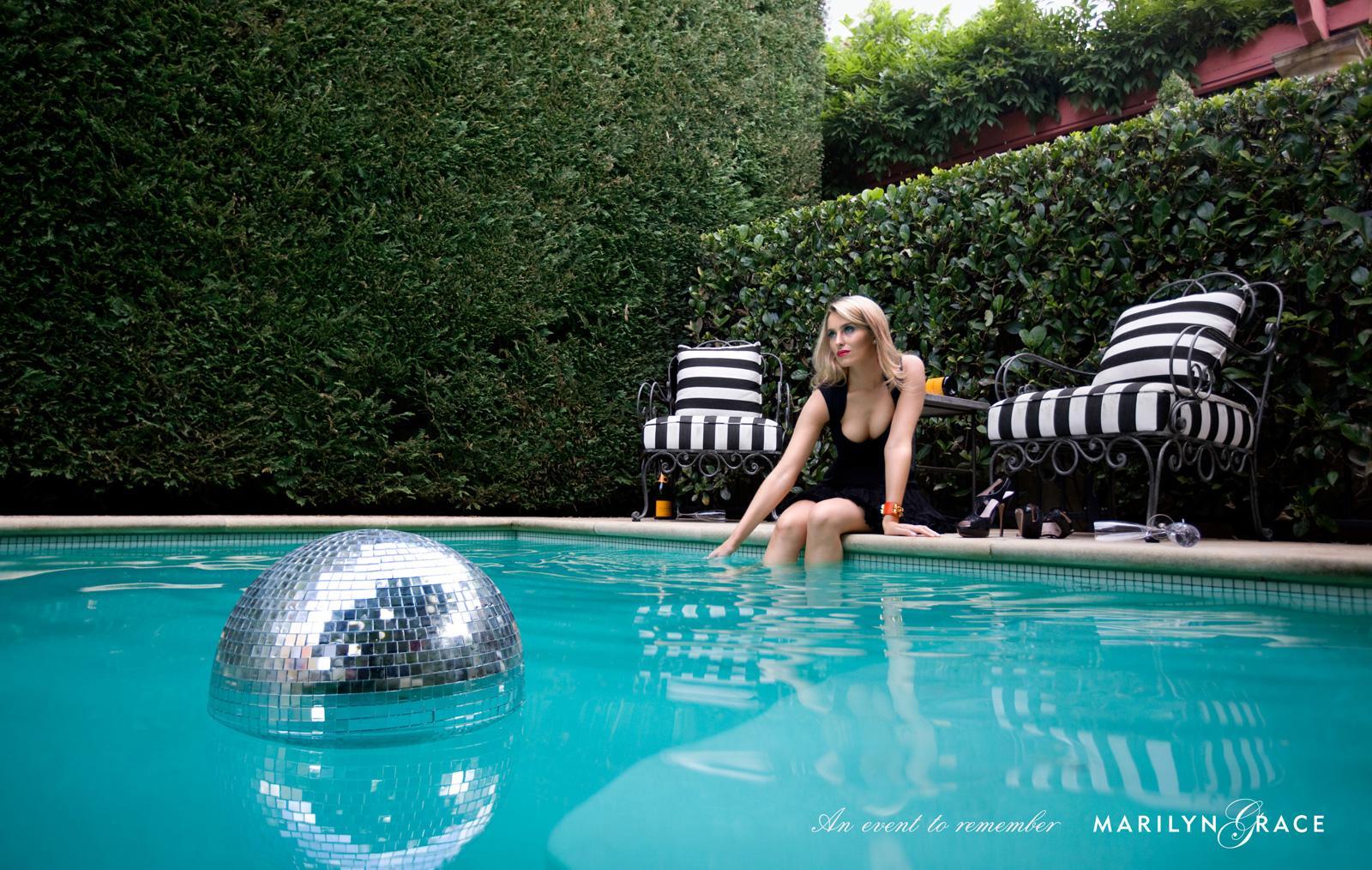 Marilyn Grace Print Ad -  Pool