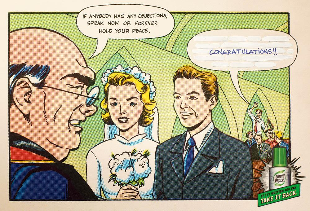 Paper Mate Liquid Paper Print Ad -  Marriage