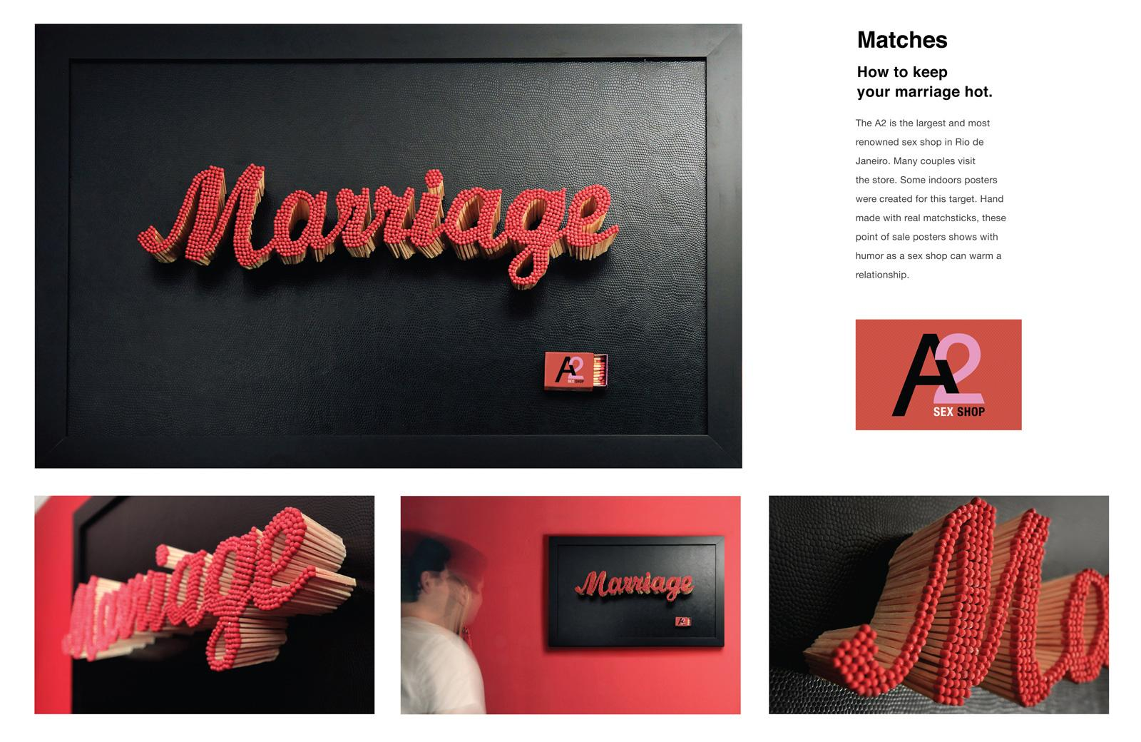 A2 Sexshop Outdoor Ad -  Matches