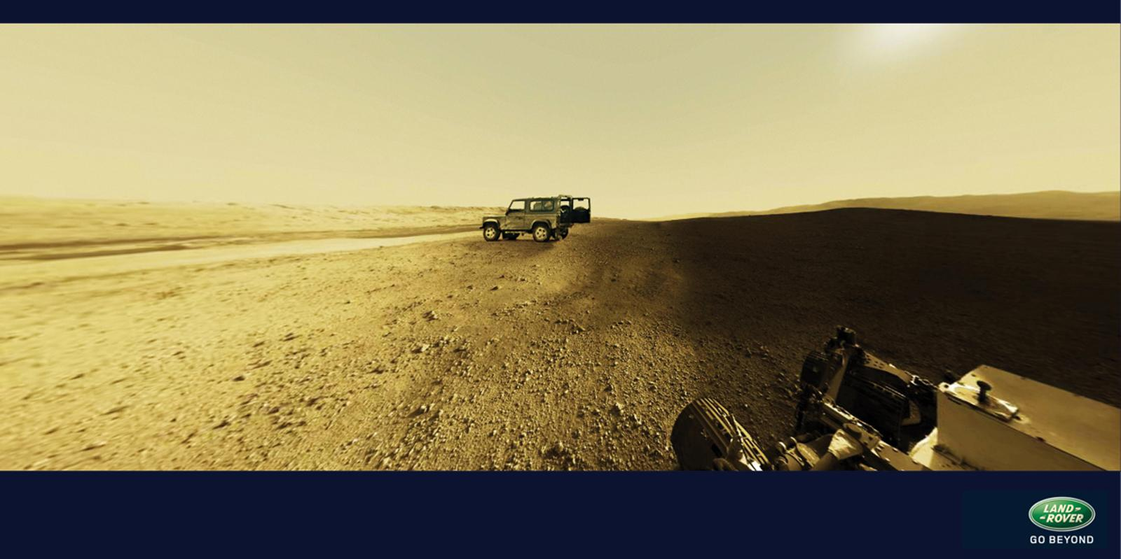 Land Rover Print Ad -  Curiosity meets Land Rover