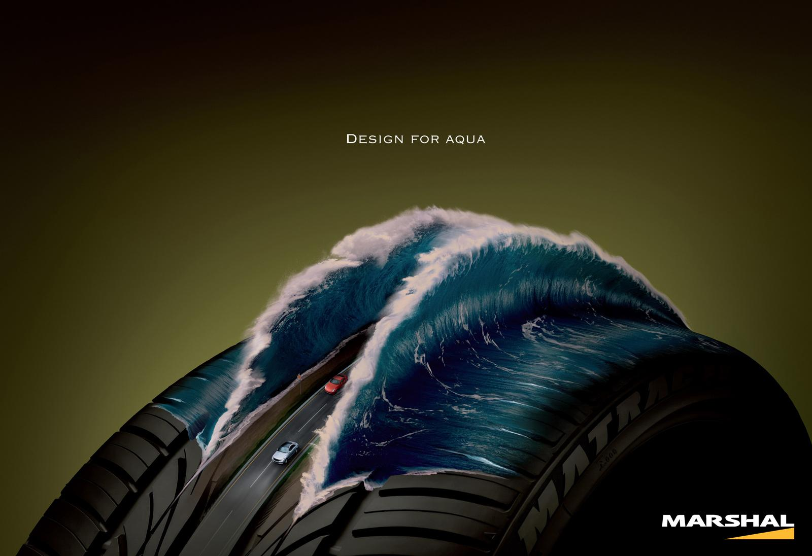 Kumho Tires Print Ad -  Design for aqua