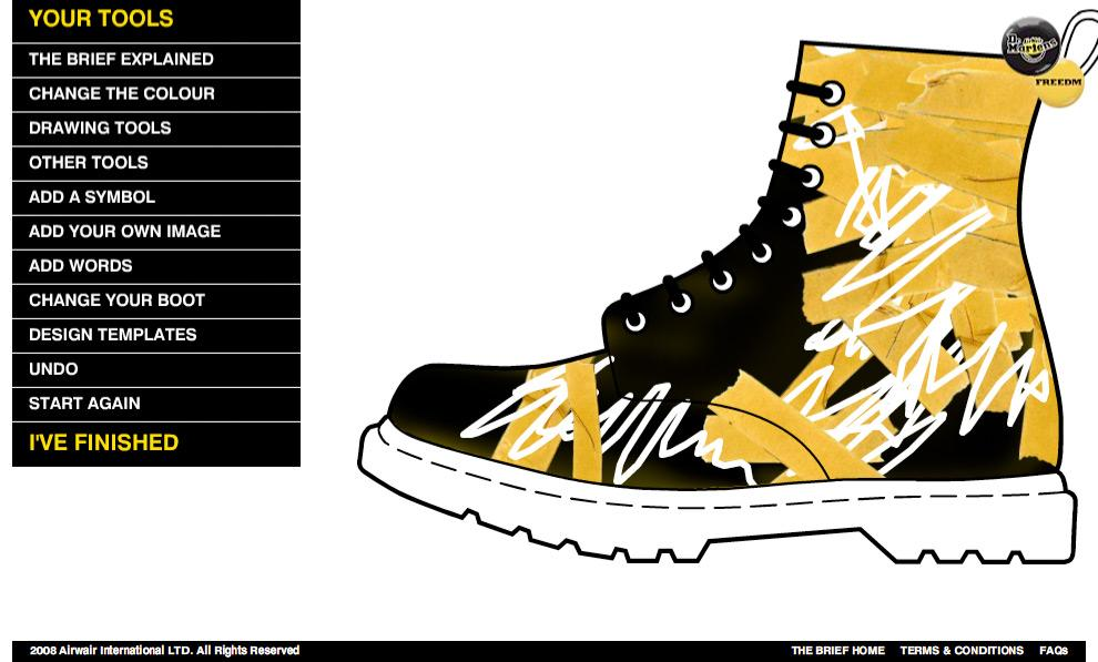 Dr. Martens Digital Ad -  Boot design
