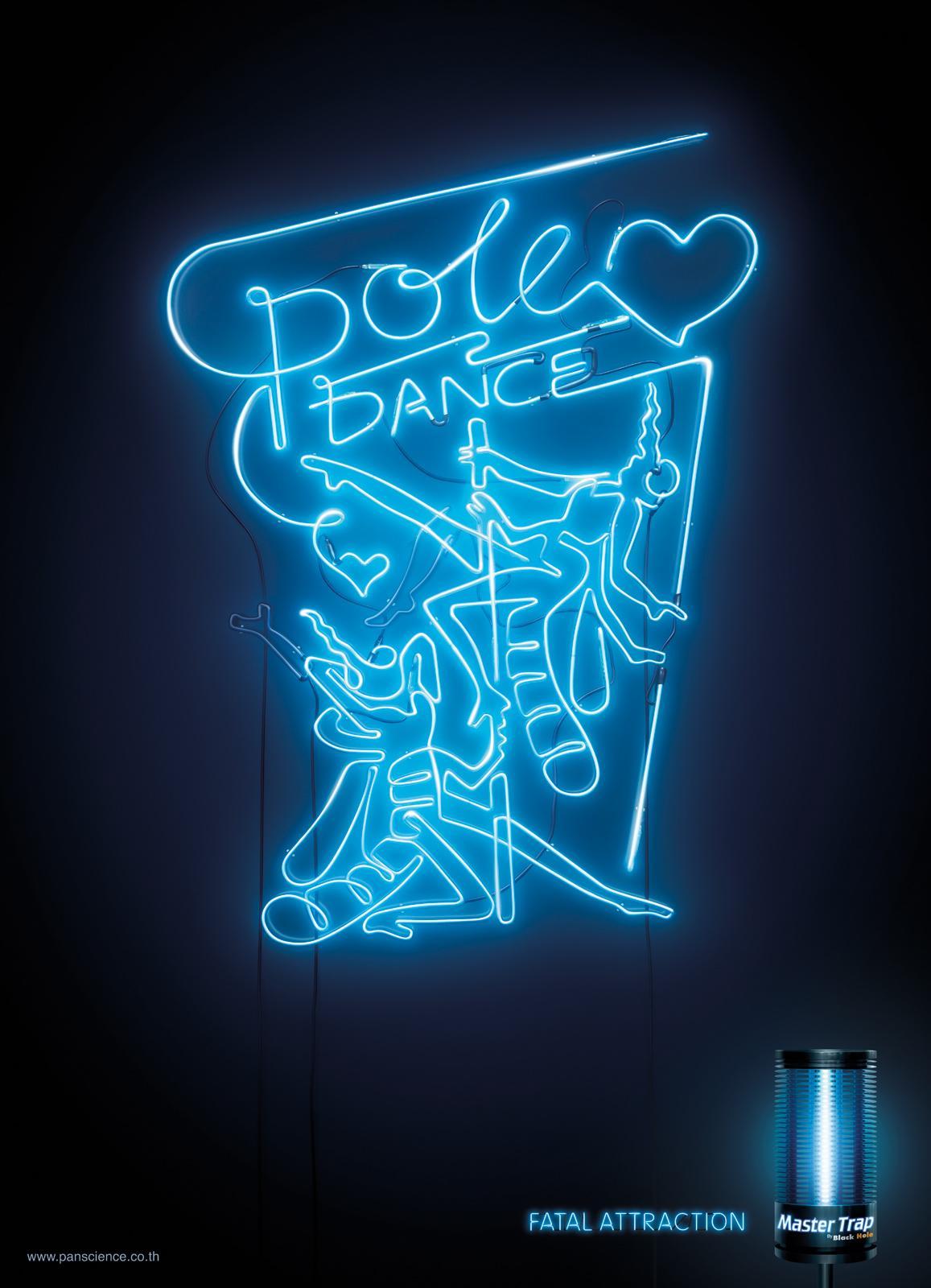 Master Trap Print Ad -  Pole dance