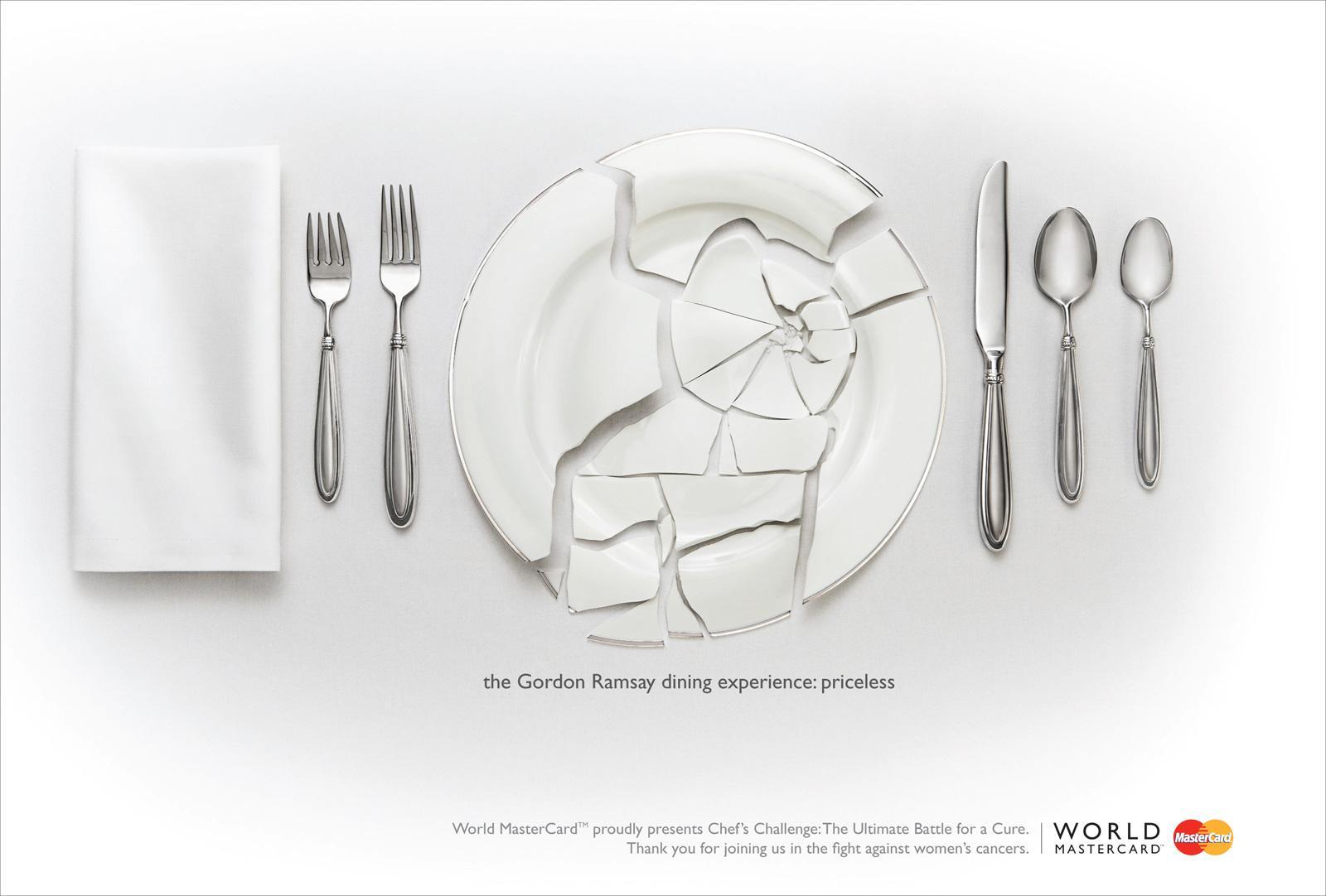 MasterCard Print Ad -  Chef's Challenge Plate