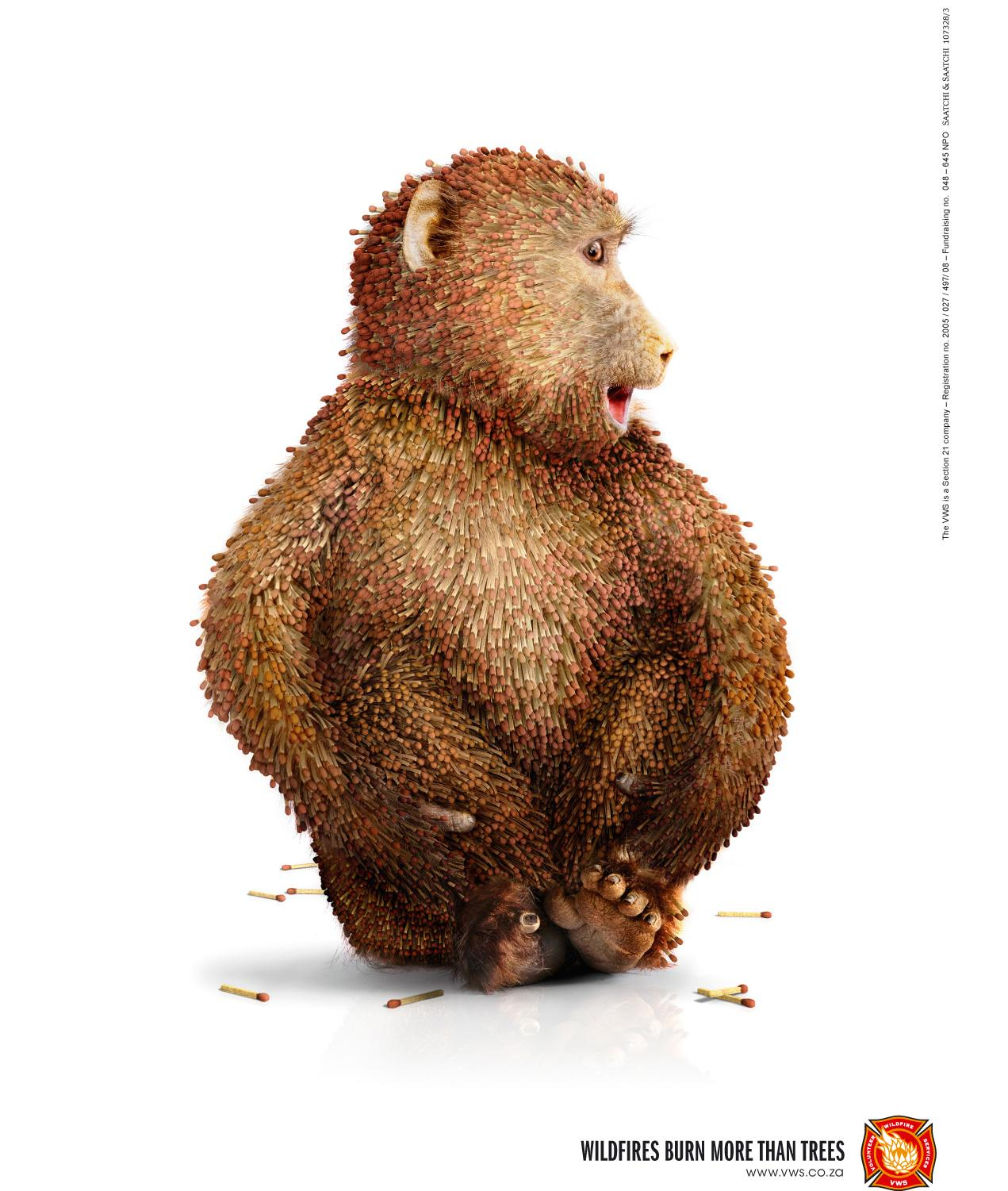 Volunteer Wildfire Services Print Ad -  Match Baboon