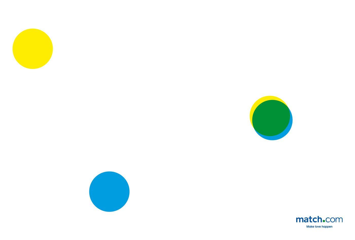 Match.com Print Ad -  Dots