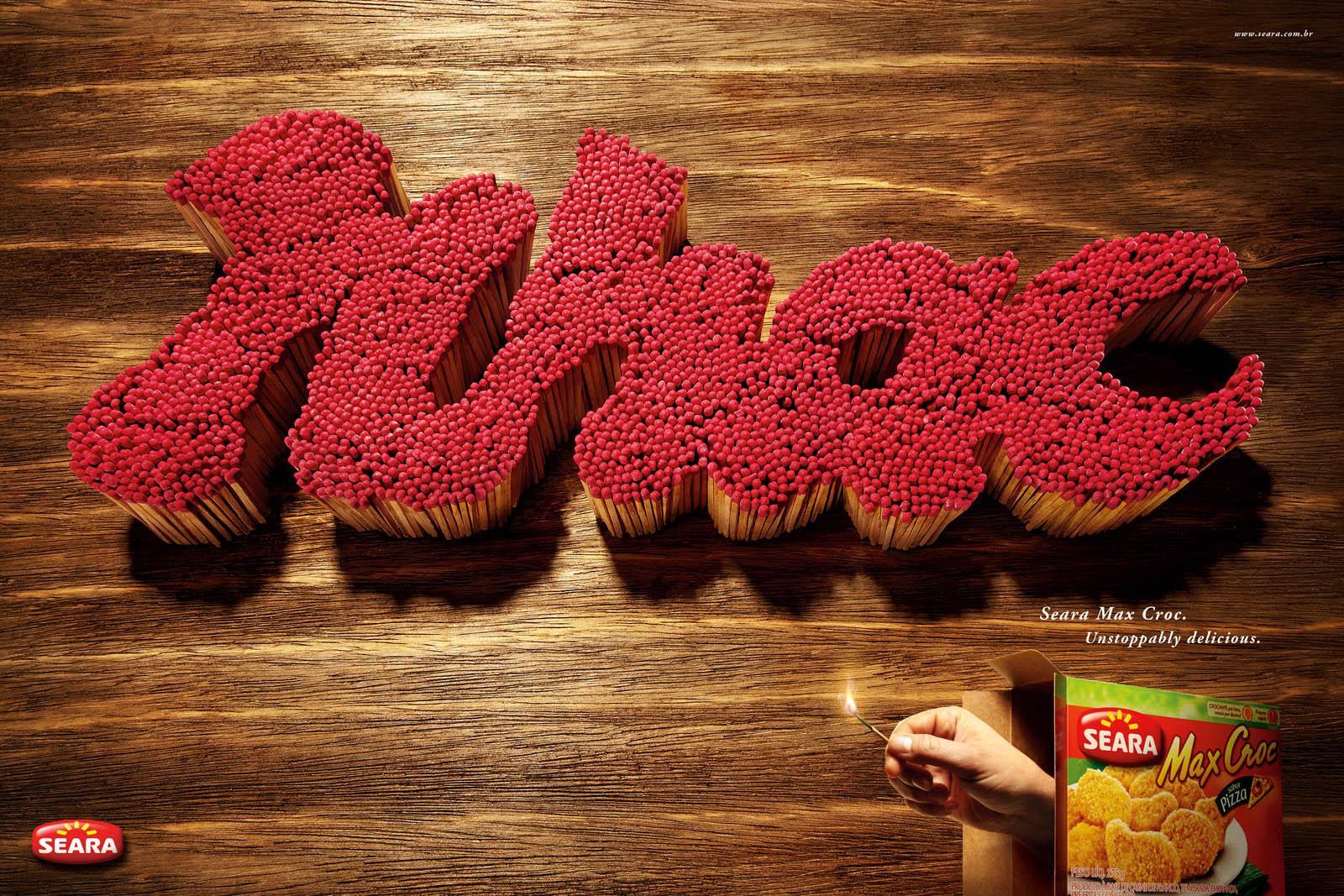 Max Croc Print Ad -  Nhac Matchsticks