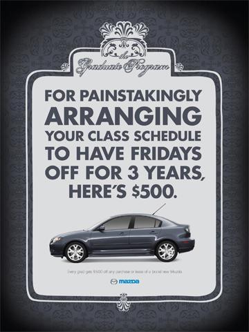 Mazda Print Ad -  Class