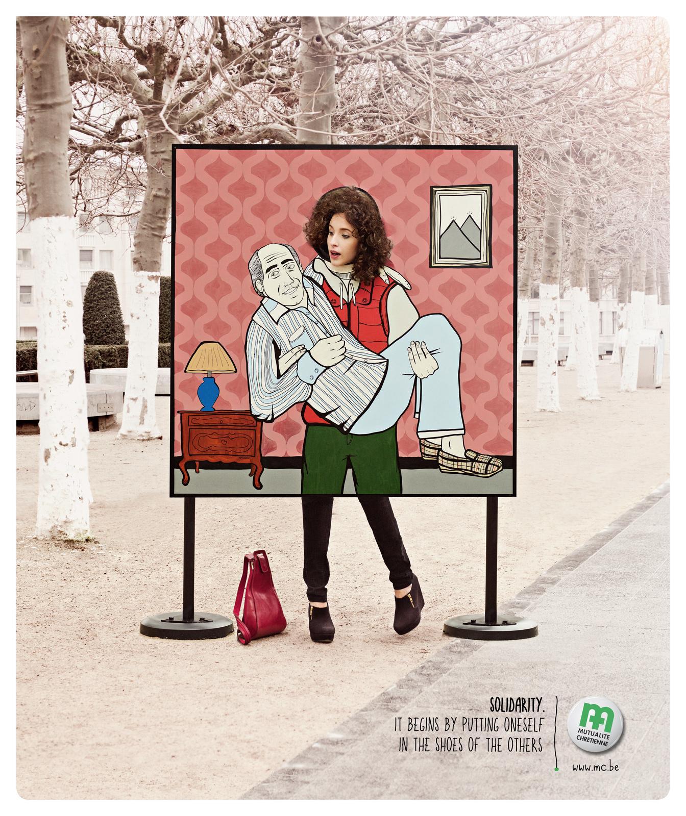 Mutualité chrétienne Print Ad -  Carry
