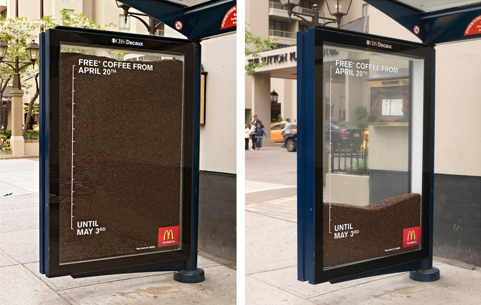 McDonald's Ambient Ad -  Bus stop