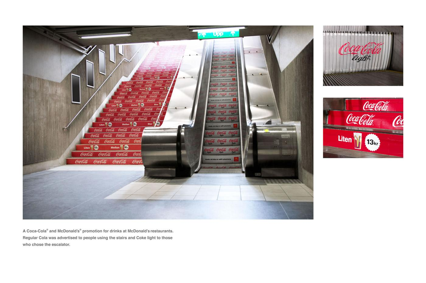 McDonald's Ambient Ad -  Stairs and escalators