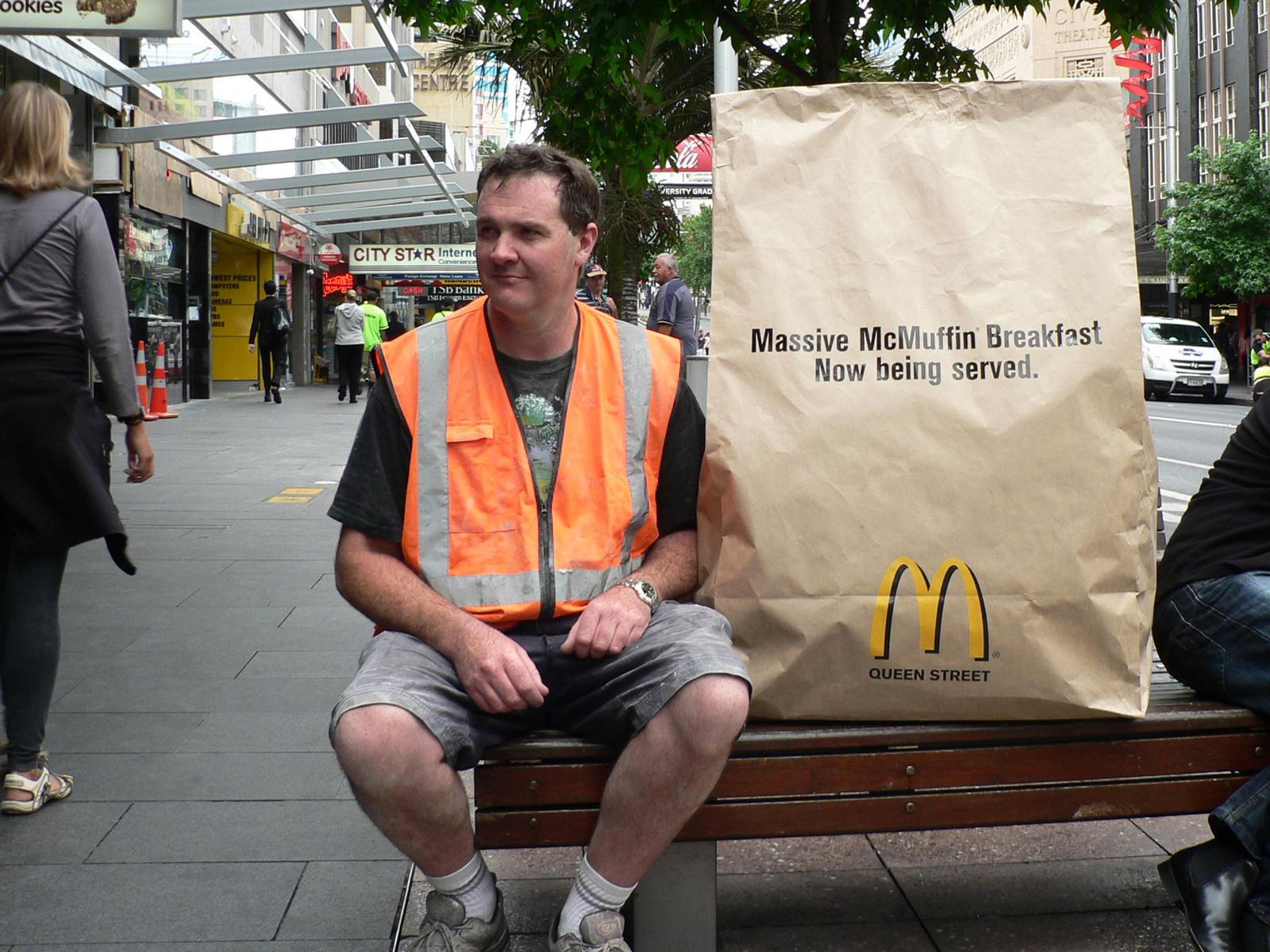 McDonald's Ambient Ad -  Massive McMuffin Breakfast, 1