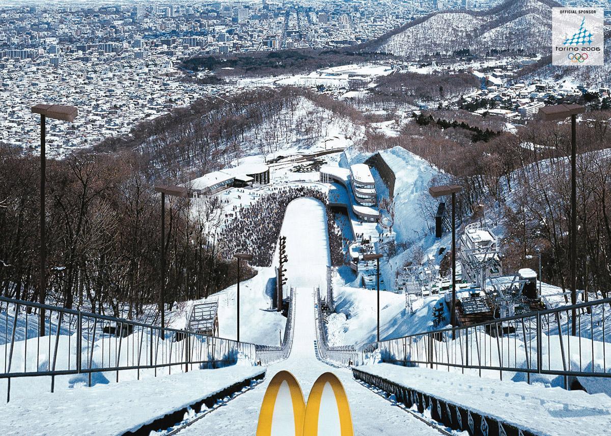 McDonald's Print Ad -  Ski-Jump