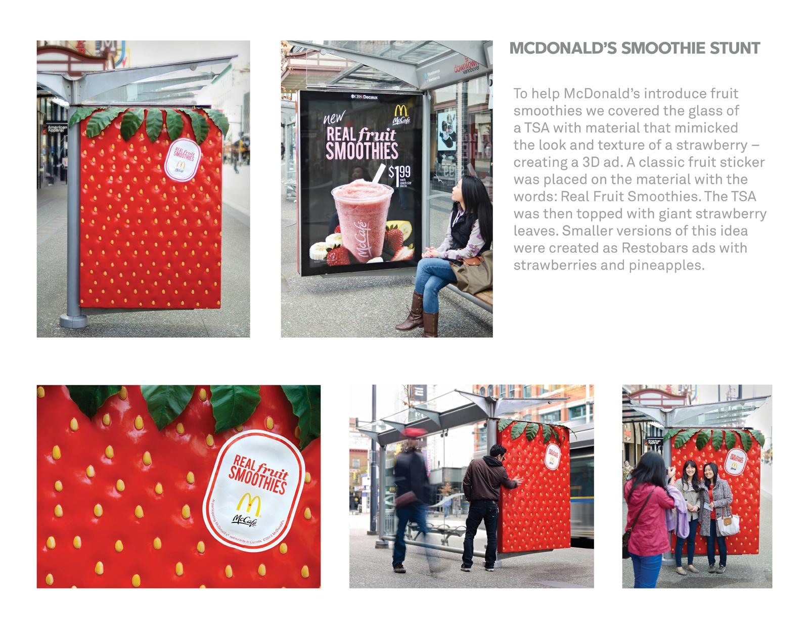 McDonald's Outdoor Ad -  Smoothies