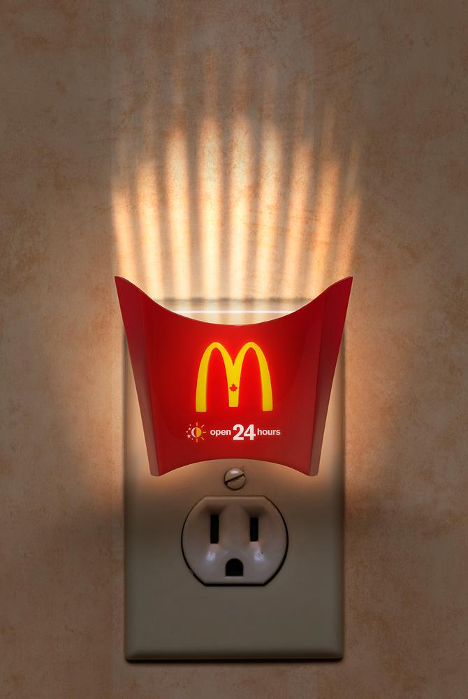McDonald's Print Ad -  Night Light