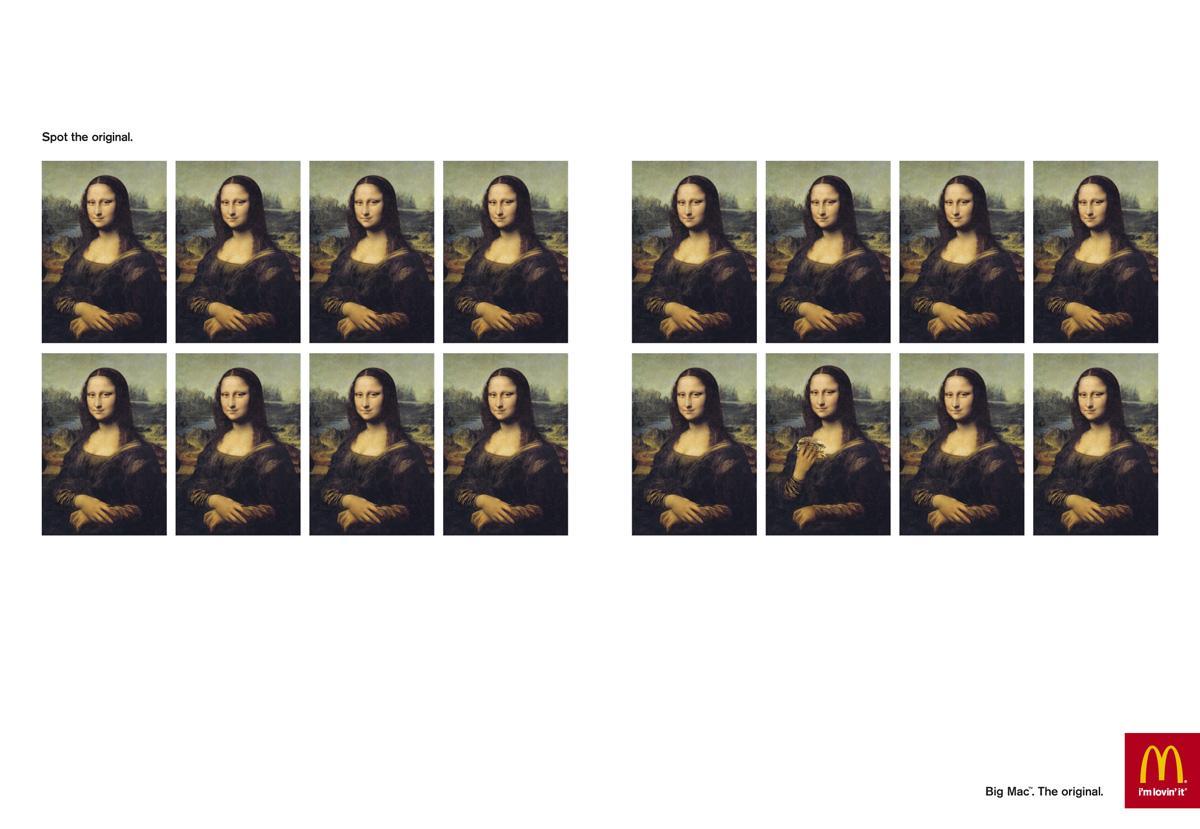 McDonald's Print Ad -  Spot the original