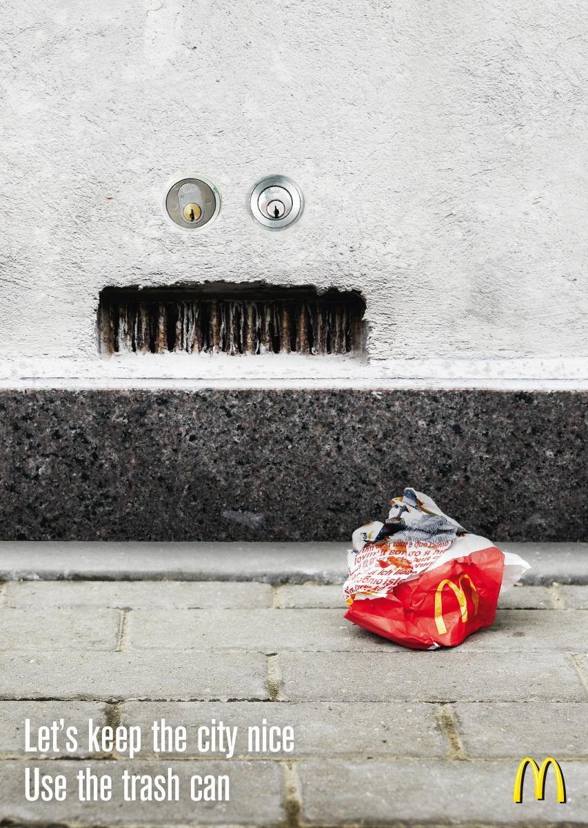 McDonald's Print Ad -  Angry wall, 1