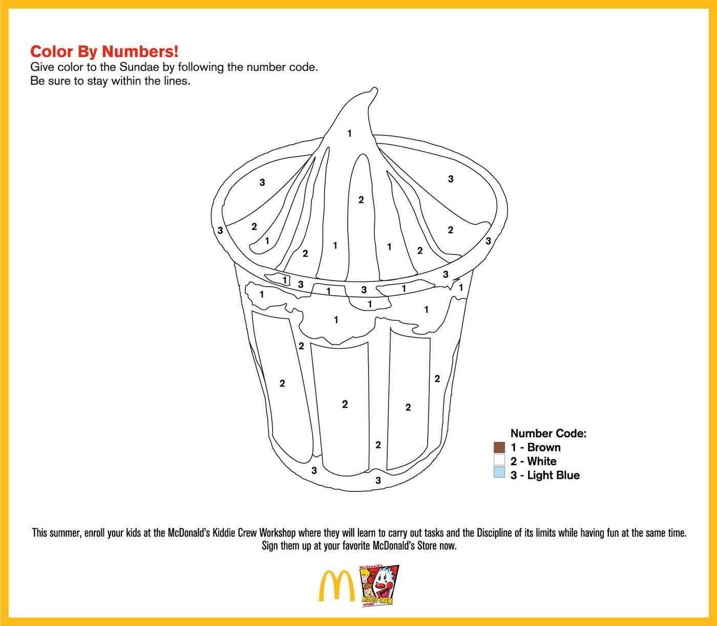 McDonald's Print Ad -  Color by numbers