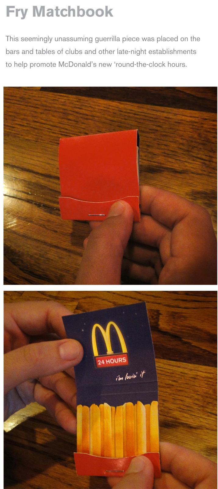 McDonald's Direct Ad -  Fry Matchbook