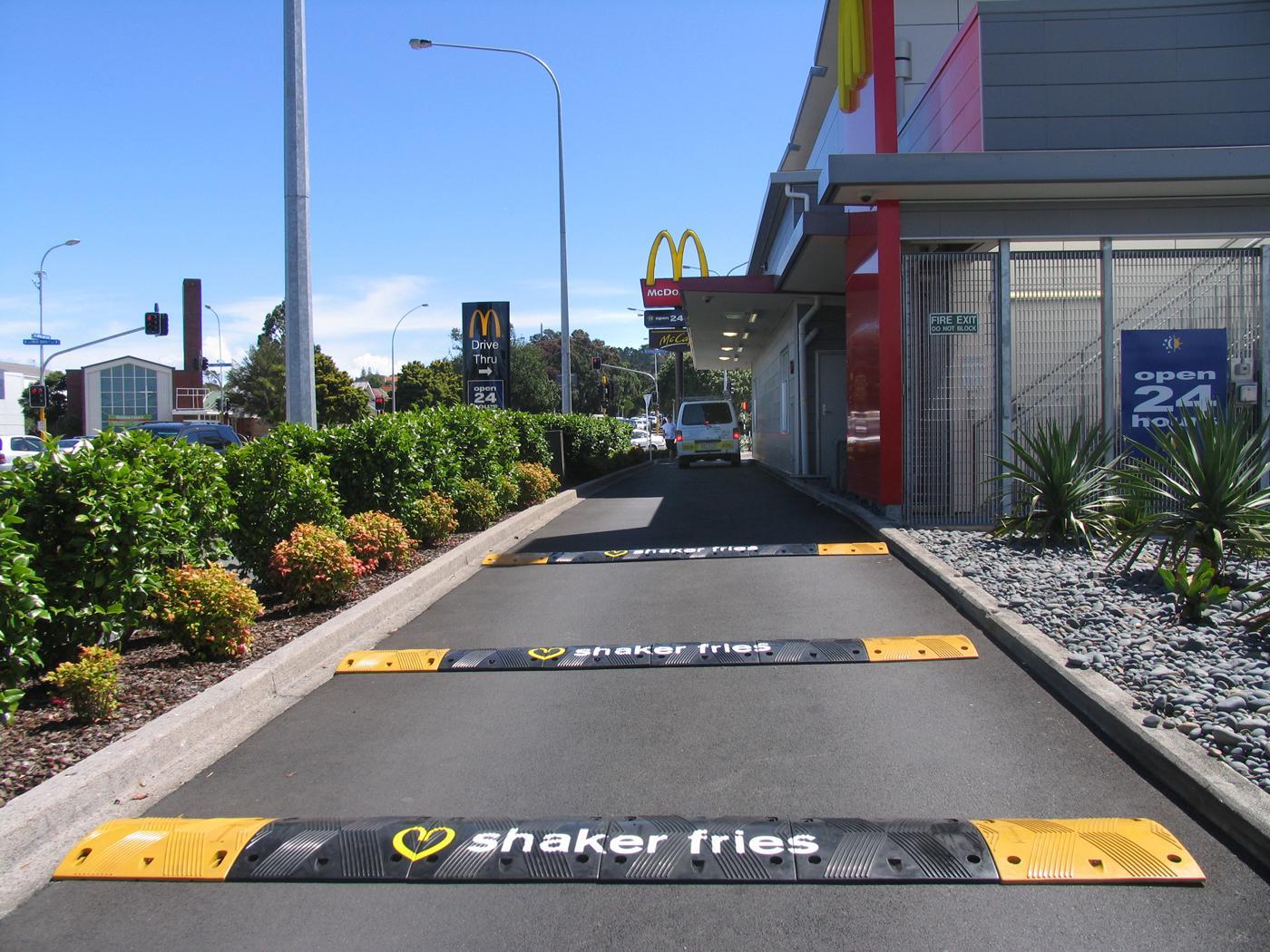 McDonald's Ambient Ad -  Speed bump