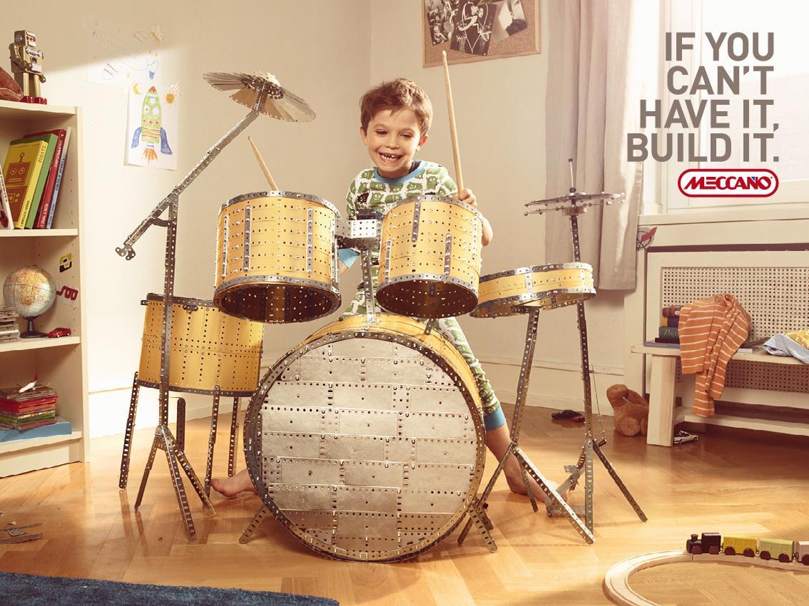 Meccano Print Ad -  Drums